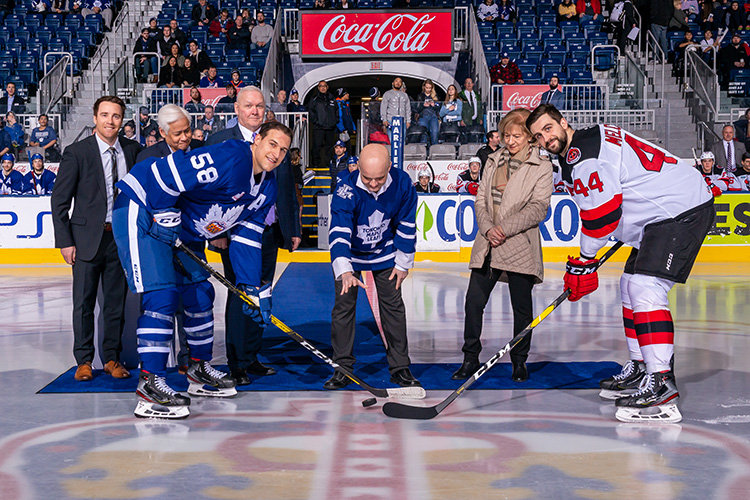 February 19th, 2019  -  TORONTO ONTARIO CANADA - The Toronto Marlies, AHL affiliate of the NHL Toronto Maple Leafs, take on the Binghamton Devils at the Coca-Cola Coliseum in Toronto, Ontario. (Photo credit: Christian Bonin/TSGphoto.com)