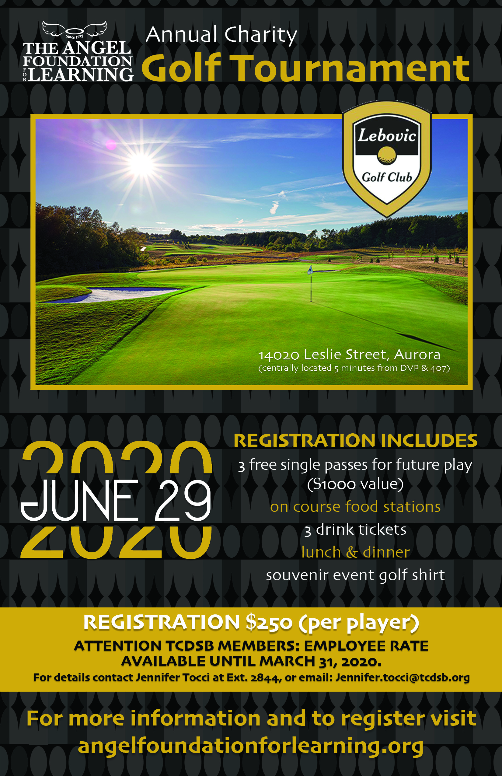 2020 Master golf post card