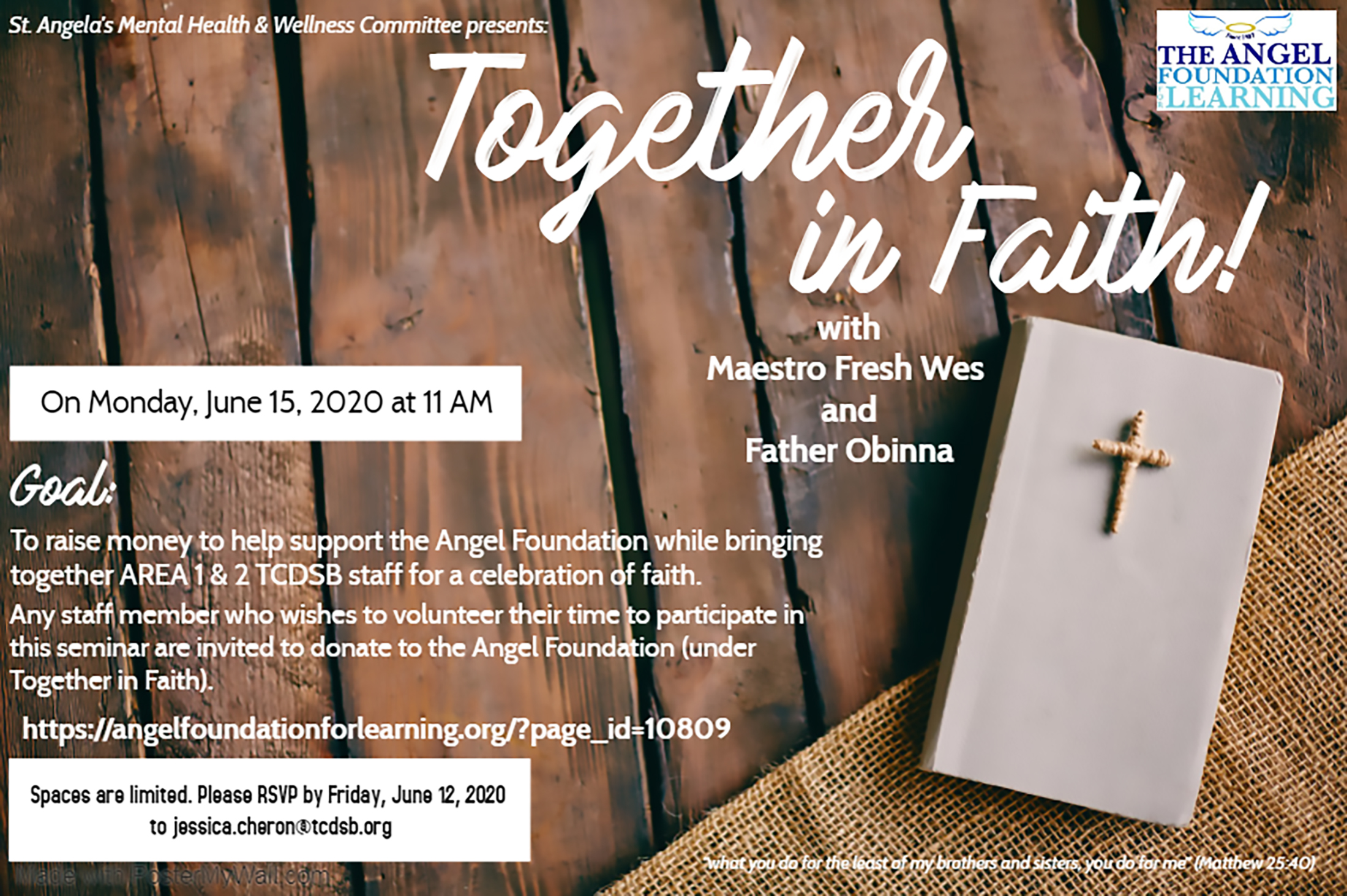 Together In Faith Fundraiser resized